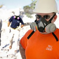 Worker Wearing a Respirator - Mobile Respirator Fit Testing - Worksite Medical