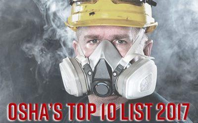 Respiratory Hazards Remains Top OSHA Violation for 2017