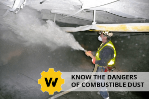 Coal miner working with combustible dust