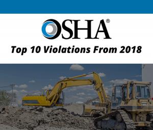Top 10 OSHA Violations 2018