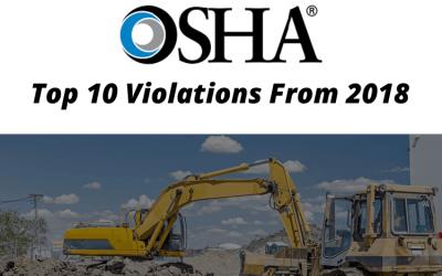 2018 OSHA Top 10 Violations List Released