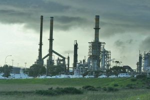 Hydrofluoric acid can be released during refinery explosions