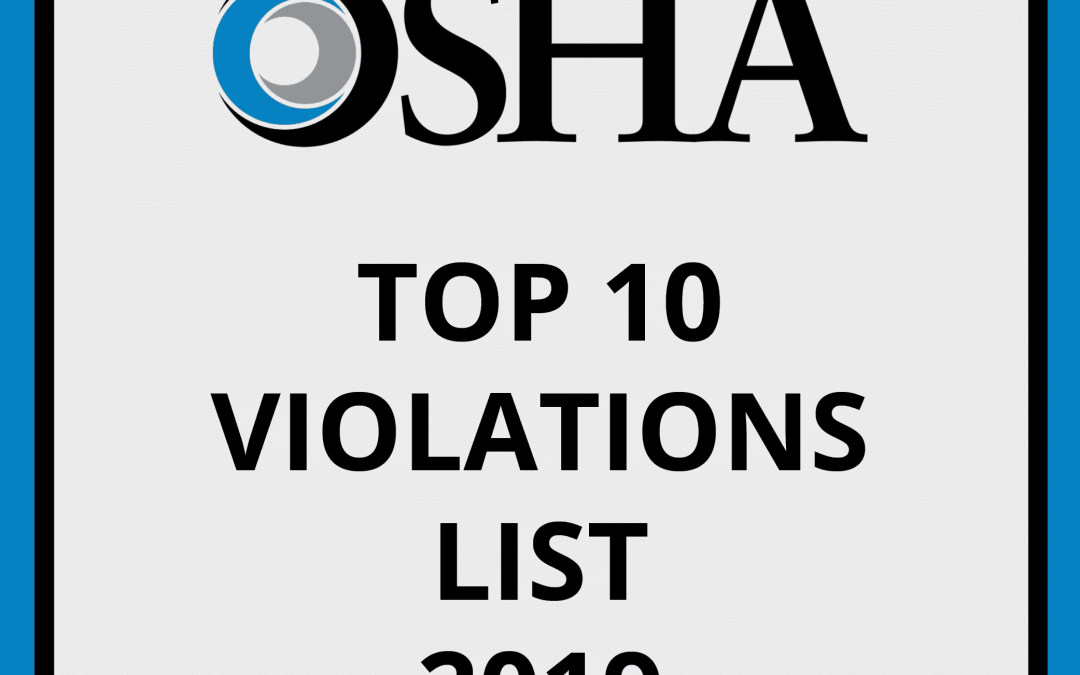 OSHA's Preliminary Top 10 Violations for 2019