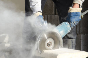 Combustible silica dust from sawing