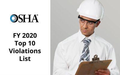 OSHA's FY 2020 Top 10 Violations List Released